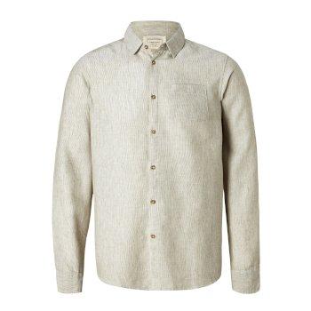 Craghoppers Porter Long Sleeved Shirt Olive Green Stripe