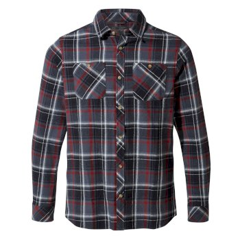 Craghoppers Machrie Long-Sleeved Shirt Blue Navy Check
