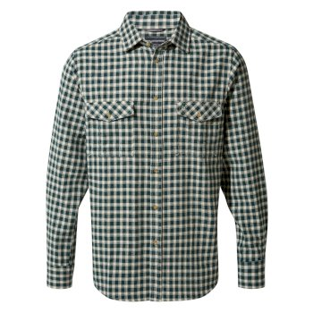 Craghoppers Kiwi Long-Sleeved Check Shirt Mountain Green Check