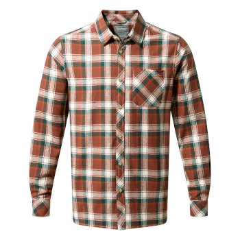 Craghoppers Harris Long-Sleeved Shirt Burnt Umber Check