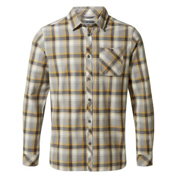 Craghoppers Harris Long-Sleeved Shirt Dark Grey Check