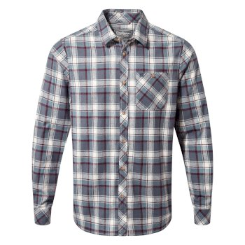 Craghoppers Harris Long-Sleeved Shirt Ombre Blue Check