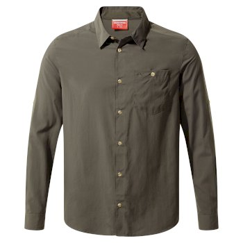 Craghoppers NosiLife Nuoro Long-Sleeved Shirt - Dark Khaki
