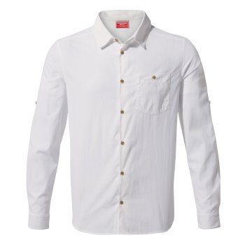Craghoppers NosiLife Nuoro Long Sleeved Shirt - Optic White