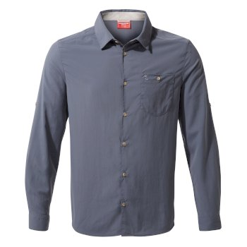 Craghoppers NosiLife Nuoro Long Sleeved Shirt - Ombre Blue