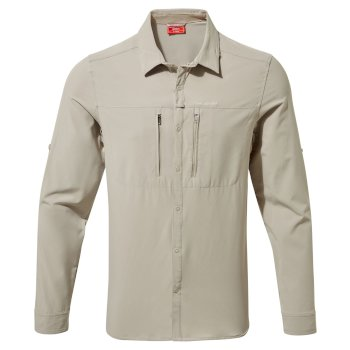 Craghoppers NosiLife Pro III Long-Sleeved Shirt - Parchment