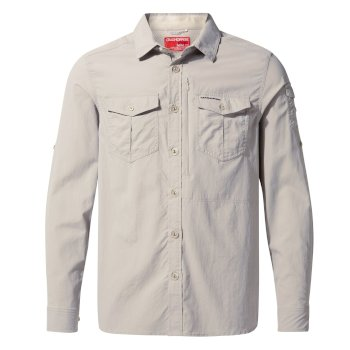 Craghoppers NosiLife Adventure II Long Sleeved Shirt  - Parchment