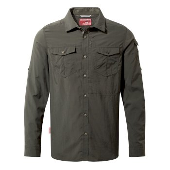 Craghoppers NosiLife Adventure II Long Sleeved Shirt  - Dark Khaki