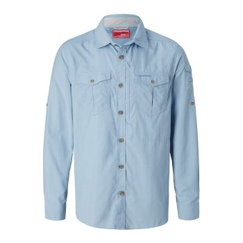 Craghoppers NosiLife Adventure II Long Sleeved Shirt  - Fogle Blue