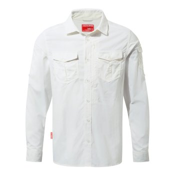Craghoppers NosiLife Adventure II Long Sleeved Shirt  - Optic White