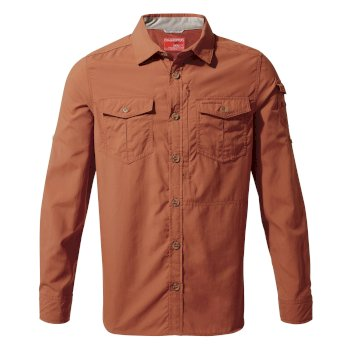 Craghoppers NosiLife Adventure II Long Sleeved Shirt  - Burnt Whisky