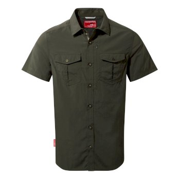 Craghoppers NosiLife Adventure II Short Sleeved Shirt  - Dark Khaki
