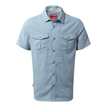 Craghoppers NosiLife Adventure II Short Sleeved Shirt  - Fogle Blue