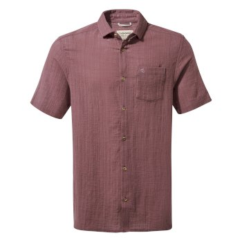 Craghoppers Riviera Short-Sleeved Shirt - Smoked Mulberry