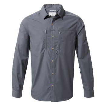 Craghoppers Kiwi Boulder Long Sleeved Shirt - Ombre Blue