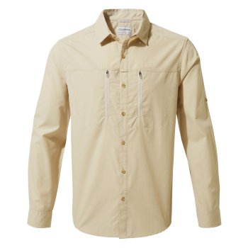 Craghoppers Kiwi Boulder Long Sleeved Shirt - Oatmeal