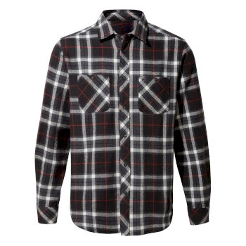 Craghoppers Riffelalp Long-Sleeved Shirt - Black Pepper Check