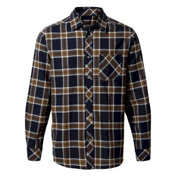 Craghoppers Cogwheel Long-Sleeved Shirt - Blue Navy Check