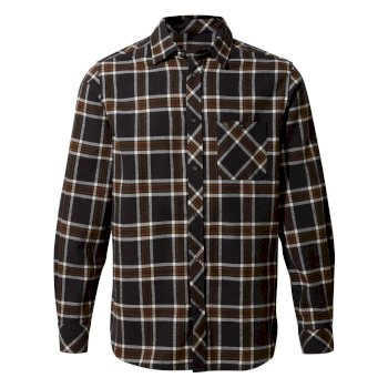 Craghoppers Cogwheel Long-Sleeved Shirt - Ibex Brown Check