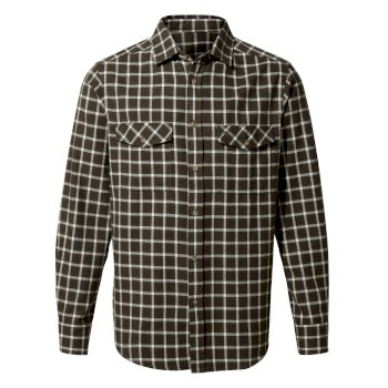 Craghoppers Kiwi II Check Long-Sleeved Shirt - Woodland Green Check