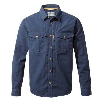 Craghoppers Kiwi Ripstop Long-Sleeved Shirt - Blue Navy