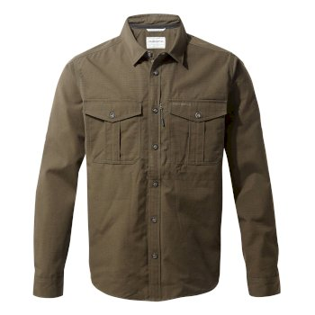 Craghoppers Kiwi Ripstop Long-Sleeved Shirt - Woodland Green
