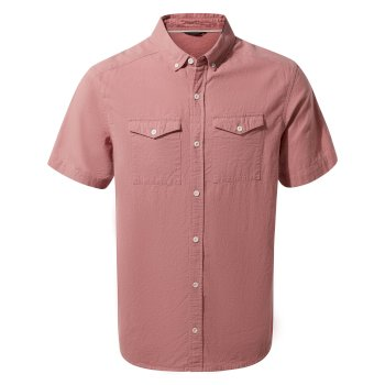 Craghoppers Kiwi Linen Short-Sleeved Shirt - Light Radicchio