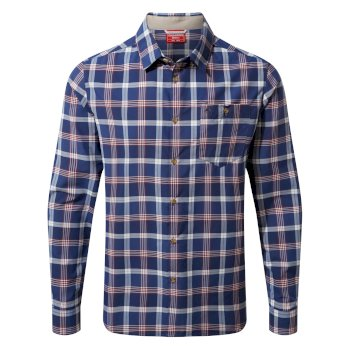 Craghoppers NosiLife Balbor Long Sleeved Shirt - Lapis Blue Check