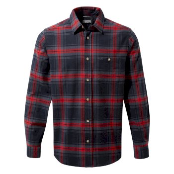 Craghoppers Wilmot Long Sleeved Shirt - Blue Navy Check