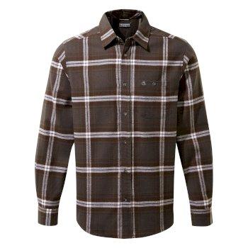 Craghoppers Wilmot Long Sleeved Shirt - Black Pepper Check
