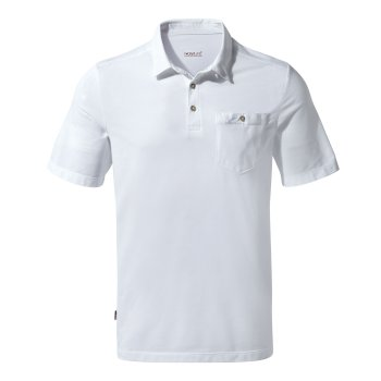 Craghoppers NosiLife Gilles Short-Sleeved Polo - Optic White