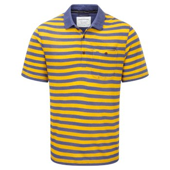 Craghoppers Fraser Short-Sleeved Polo - Dusk Blue / English Mustard