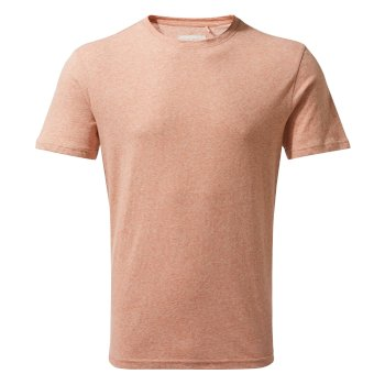 Craghoppers Bernard Short-Sleeved T-Shirt - Red Ochre Stripe