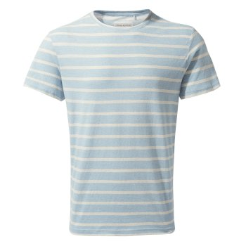 Craghoppers Bernard Short-Sleeved T-Shirt - Fox Blue Multi Stripe