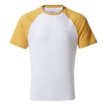 Craghoppers NosiLife Anello Short-Sleeved T-Shirt - Indian Yellow / Optic White
