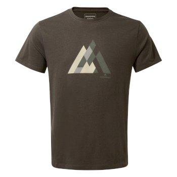 Craghoppers Calvino Short-Sleeved Geometric Mountain T-Shirt - Black Pepper