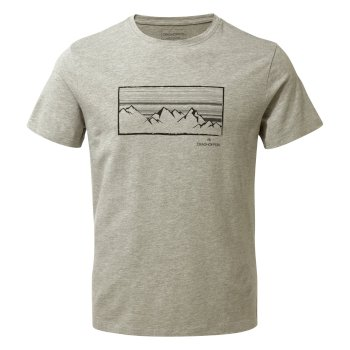 Craghoppers Calvino Short-Sleeved Mountainscape T-Shirt - Soft Grey