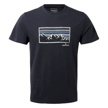 Craghoppers Calvino Short-Sleeved Mountainscape T-Shirt - Blue Navy