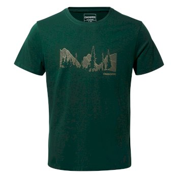 Craghoppers Calvino Short-Sleeved Linear Mountain T-Shirt - Mountain Green