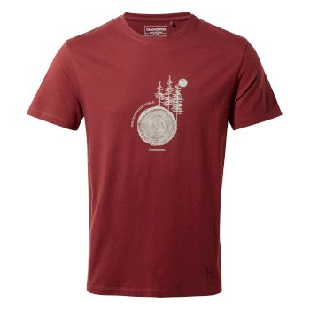 Craghoppers Calvino Short-Sleeved T-Shirt - Loganberry Tree Stamp