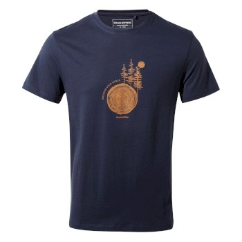 Craghoppers Calvino Short-Sleeved T-Shirt - Blue Navy Tree Stamp
