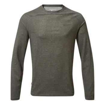 Craghoppers NosiLife Bayame II Long Sleeved T-Shirt - Black Pepper Marl