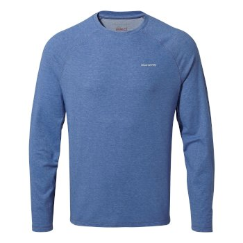 Craghoppers NosiLife Bayame II Long Sleeved T-Shirt - Delft Blue Marl