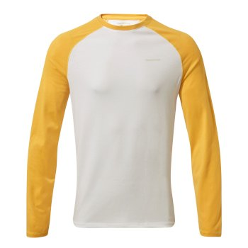 Craghoppers NosiLife Bayame II Long Sleeved T-Shirt - Indian Yellow / Optic White