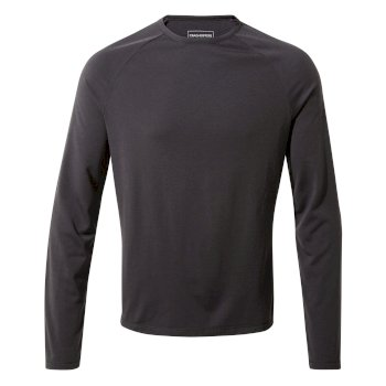 Craghoppers First Layer Long-Sleeved T-Shirt - Black Pepper