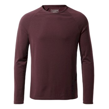 Craghoppers First Layer Long Sleeved T-Shirt Dark Wine