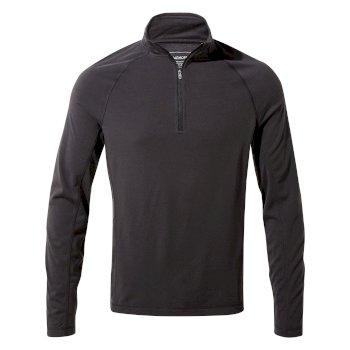 Craghoppers First Layer Half Zip T-Shirt - Black Pepper