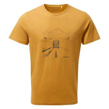 Craghoppers Nelson Short-Sleeved T-Shirt - Golden Yellow Truck