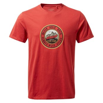Craghoppers Mightie Short Sleeved T-Shirt - Pompeian Red Circle