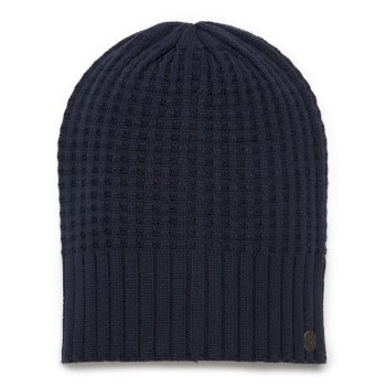 Craghoppers Unisex Brompton Waffle Knit Beanie Hat Soft Navy